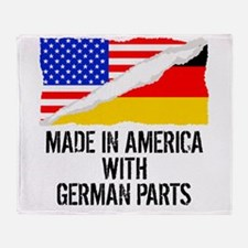 Made In America With German Parts Throw Blanket