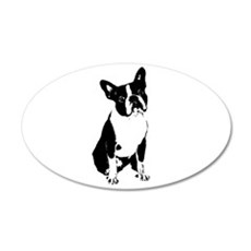 boston terrier black and white 2 Wall Decal