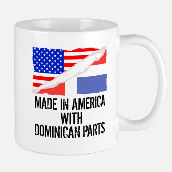 Made In America With Dominican Parts Mugs