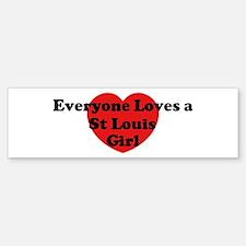 St Louis girl Bumper Car Car Sticker