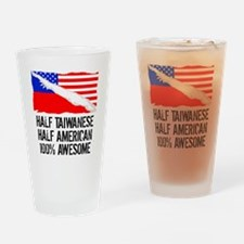 Half Taiwanese Half American Awesome Drinking Glas