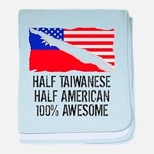 Half Taiwanese Half American Awesome baby blanket