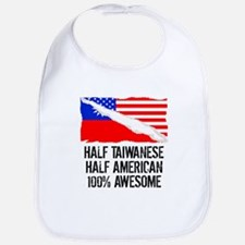 Half Taiwanese Half American Awesome Bib