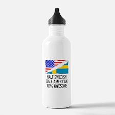 Half Swedish Half American Awesome Water Bottle