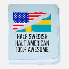 Half Swedish Half American Awesome baby blanket