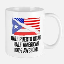 Half Puerto Rican Half American Awesome Mugs