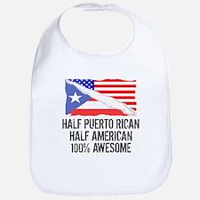 Half Puerto Rican Half American Awesome Bib
