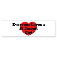 St Joseph girl Bumper Bumper Sticker