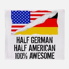 Half German Half American Awesome Throw Blanket