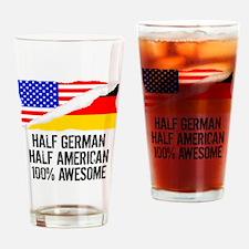 Half German Half American Awesome Drinking Glass