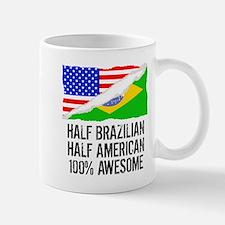 Half Brazilian Half American Awesome Mugs