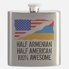 Half Armenian Half American Awesome Flask