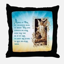 Angel of God (Day) Throw Pillow