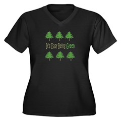 It's Easy Being Green 2 Plus V-Neck Dark T-Shirt