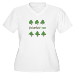 It's Easy Being Green 2 Plus V-Neck T-Shirt