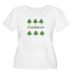 It's Easy Being Green 2 Plus Scoop Neck T-Shirt