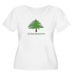 It's Easy Being Green Plus Size Scoop Neck T-Shirt