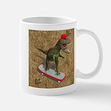 Skateboarding T-Rex Mugs