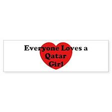 Qatar girl Bumper Bumper Sticker
