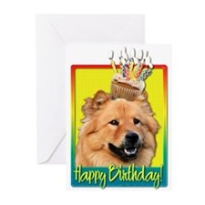 Cute Cupcake birthday Greeting Cards (Pk of 10)