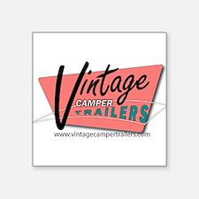 """Unique Vintage trailer Square Sticker 3"""" x 3"""""""