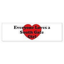 South Gate girl Bumper Bumper Sticker