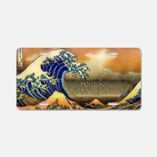 The Great Wave off Kanagawa Aluminum License Plate