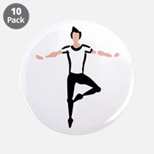 """Male Dancer 3.5"""" Button (10 pack)"""