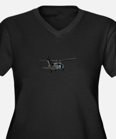 Black Hawk Helicopter Plus Size T-Shirt