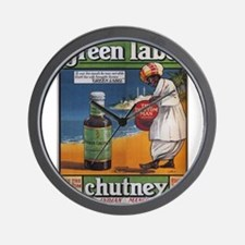 Vintage poster - Green Label Indian Man Wall Clock