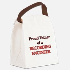 Proud Father of a Recording Engin Canvas Lunch Bag