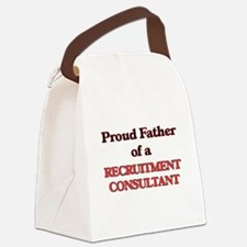 Proud Father of a Recruitment Con Canvas Lunch Bag