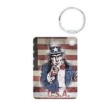 US Flag and Uncle Sam Keychains