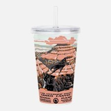 Vintage poster - Grand Acrylic Double-wall Tumbler