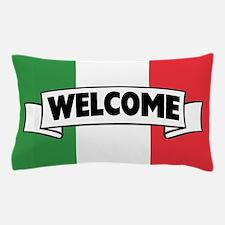 Italian Flag Welcome Pillow Case