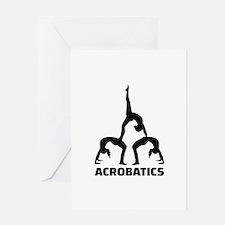 Acrobatics Greeting Card