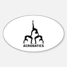 Acrobatics Sticker (Oval)