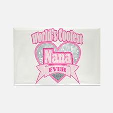 pink world's coolest nana Magnets