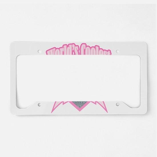 pink world's coolest nana License Plate Holder