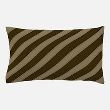 Striped Tan Brown Pattern Pillow Case