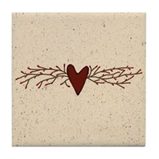 Pip Berry Heart Swag Tile Coaster