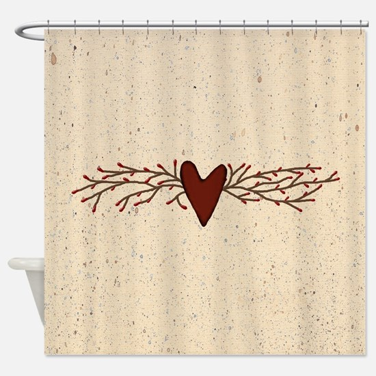 Pip Berry Heart Swag Shower Curtain