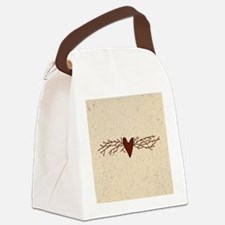 Pip Berry Heart Swag Canvas Lunch Bag