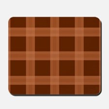 Plaid Orange Brown Pattern Mousepad