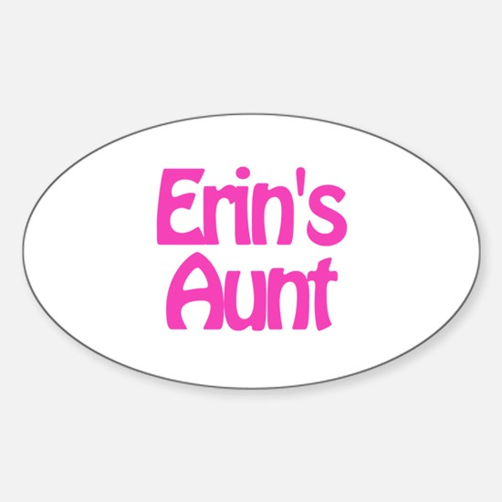 Erin's Aunt Oval Decal