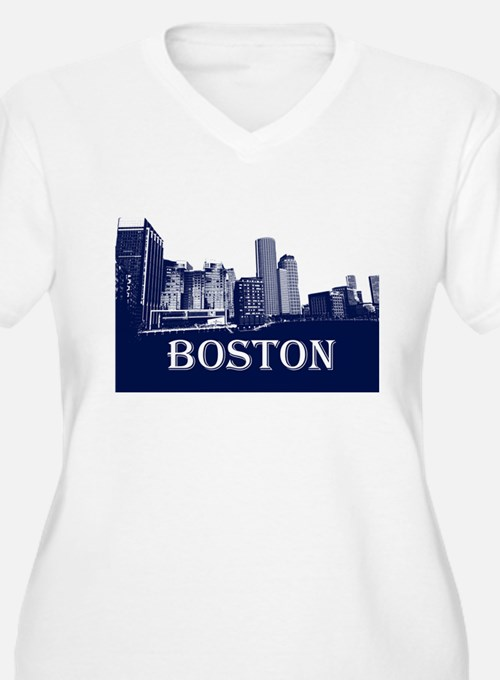 Boston From Fort Point Channel Plus Size T-Shirt