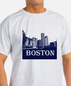 Boston From Fort Point Channel T-Shirt