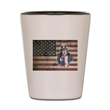 US Flag and Uncle Sam Shot Glass