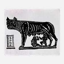 Romulus and Remus Throw Blanket