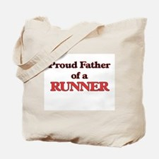 Proud Father of a Runner Tote Bag